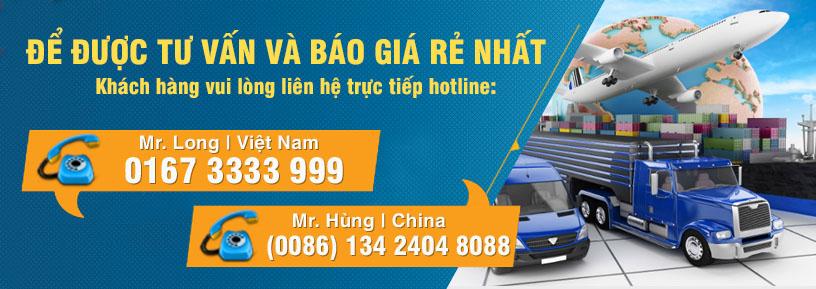 Bảng giá vận chuyển hàng hóa Trung Quốc - Việt Nam